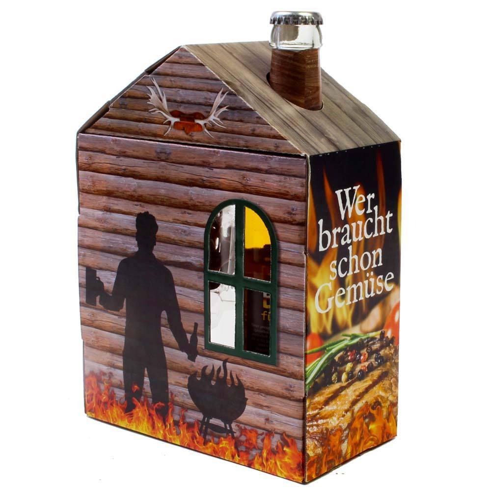 m nner geschenk wer braucht schon gem se bier glas. Black Bedroom Furniture Sets. Home Design Ideas