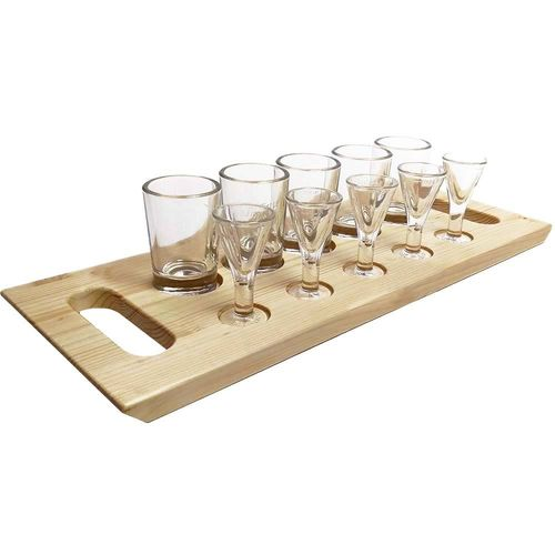 Lüttje Lage half-a-meter tray (incl. Glass-Sets)